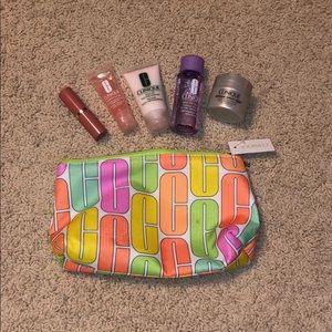 5 piece with makeup bag clinique beauty set